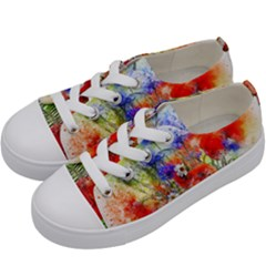 Flowers Bouquet Art Nature Kids  Low Top Canvas Sneakers by Nexatart