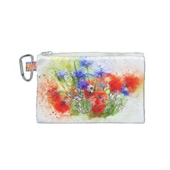 Flowers Bouquet Art Nature Canvas Cosmetic Bag (small) by Nexatart