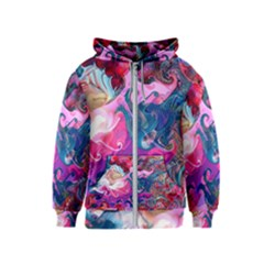Background Art Abstract Watercolor Kids  Zipper Hoodie
