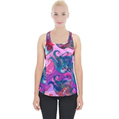 Background Art Abstract Watercolor Piece Up Tank Top