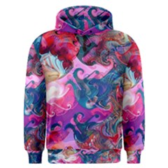 Background Art Abstract Watercolor Men s Overhead Hoodie