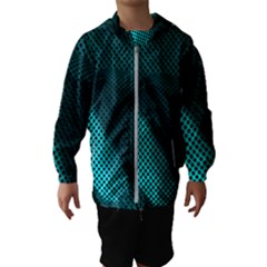 Background Sphere Ball Metal Blue Hooded Wind Breaker (kids)