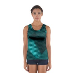 Background Sphere Ball Metal Blue Sport Tank Top