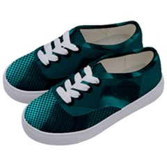 Background Sphere Ball Metal Blue Kids  Classic Low Top Sneakers by Nexatart