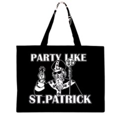 St  Patricks Day  Zipper Large Tote Bag by Valentinaart