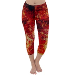 Background Art Abstract Watercolor Capri Winter Leggings