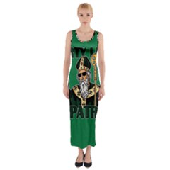 St  Patricks Day  Fitted Maxi Dress by Valentinaart