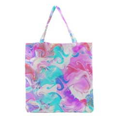 Background Art Abstract Watercolor Pattern Grocery Tote Bag