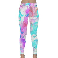 Background Art Abstract Watercolor Pattern Classic Yoga Leggings