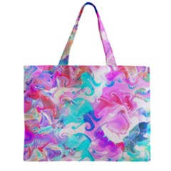 Background Art Abstract Watercolor Pattern Zipper Mini Tote Bag by Nexatart