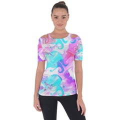 Background Art Abstract Watercolor Pattern Short Sleeve Top