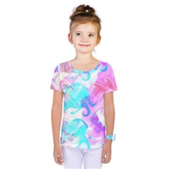 Background Art Abstract Watercolor Pattern Kids  One Piece Tee