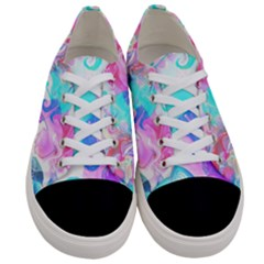Background Art Abstract Watercolor Pattern Women s Low Top Canvas Sneakers