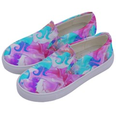 Background Art Abstract Watercolor Pattern Kids  Canvas Slip Ons by Nexatart