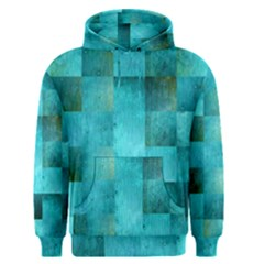 Background Squares Blue Green Men s Pullover Hoodie