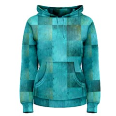 Background Squares Blue Green Women s Pullover Hoodie