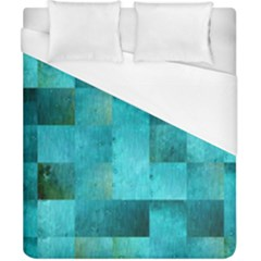 Background Squares Blue Green Duvet Cover (california King Size)