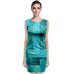 Background Squares Blue Green Classic Sleeveless Midi Dress