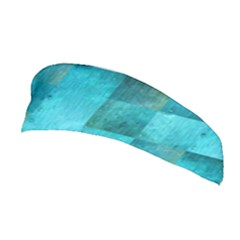 Background Squares Blue Green Stretchable Headband