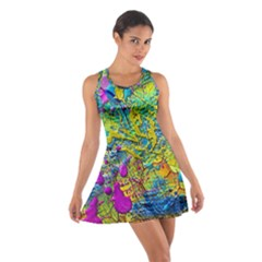Background Art Abstract Watercolor Cotton Racerback Dress