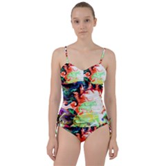 Background Art Abstract Watercolor Sweetheart Tankini Set