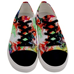 Background Art Abstract Watercolor Men s Low Top Canvas Sneakers