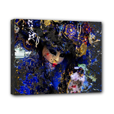 Mask Carnaval Woman Art Abstract Canvas 10  X 8