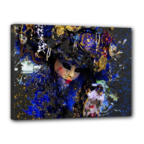 Mask Carnaval Woman Art Abstract Canvas 16  X 12  by Nexatart