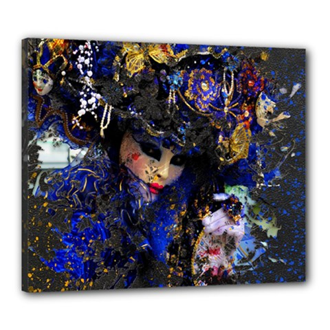 Mask Carnaval Woman Art Abstract Canvas 24  X 20