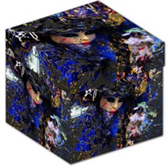 Mask Carnaval Woman Art Abstract Storage Stool 12