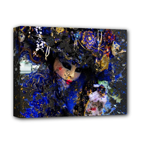 Mask Carnaval Woman Art Abstract Deluxe Canvas 14  X 11