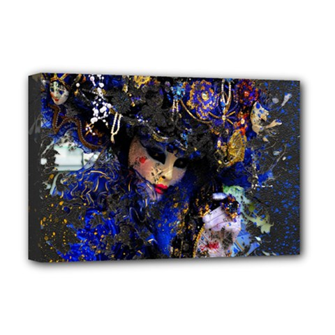 Mask Carnaval Woman Art Abstract Deluxe Canvas 18  X 12