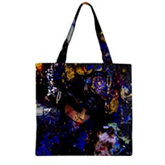 Mask Carnaval Woman Art Abstract Zipper Grocery Tote Bag by Nexatart