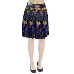 Mask Carnaval Woman Art Abstract Pleated Skirt