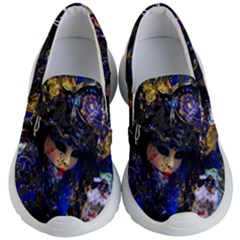Mask Carnaval Woman Art Abstract Kid s Lightweight Slip Ons by Nexatart