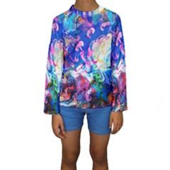 Background Art Abstract Watercolor Kids  Long Sleeve Swimwear