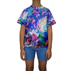 Background Art Abstract Watercolor Kids  Short Sleeve Swimwear