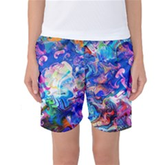 Background Art Abstract Watercolor Women s Basketball Shorts