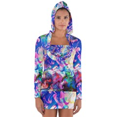 Background Art Abstract Watercolor Long Sleeve Hooded T Shirt