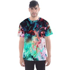 Background Art Abstract Watercolor Men s Sports Mesh Tee