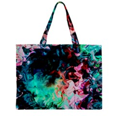 Background Art Abstract Watercolor Zipper Mini Tote Bag