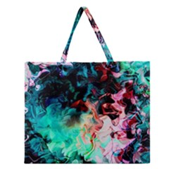 Background Art Abstract Watercolor Zipper Large Tote Bag by Nexatart