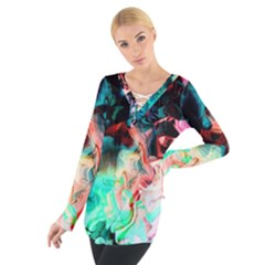 Background Art Abstract Watercolor Tie Up Tee