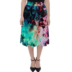 Background Art Abstract Watercolor Folding Skater Skirt