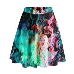 Background Art Abstract Watercolor High Waist Skirt