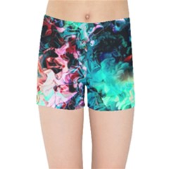 Background Art Abstract Watercolor Kids Sports Shorts