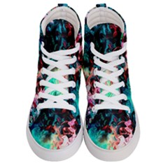 Background Art Abstract Watercolor Men s Hi Top Skate Sneakers