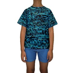 Wall Metal Steel Reflexions Kids  Short Sleeve Swimwear