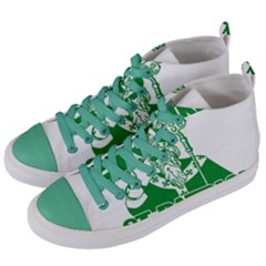 St  Patricks Day  Women s Mid Top Canvas Sneakers by Valentinaart