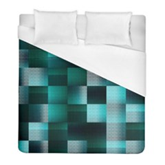 Background Squares Metal Green Duvet Cover (full/ Double Size)